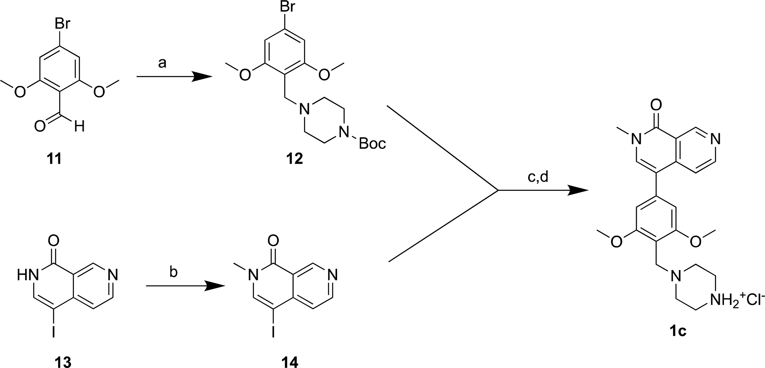 Scheme 1. Synthesis of the BRD7/9 Ligand 1c