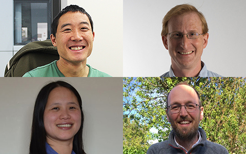 Clockwise from top left: Simon Li, Jason Swedlow, Andy Howden & Frances Wong
