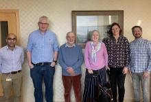 Emeritus Professor Pierre Descouts and his wife Christine with members of MRCPPU