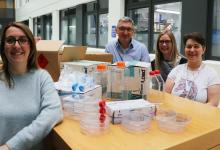 Suze Farrell, Darren Edwards, Lauren Webster and Sandra O'Neill from the Wellcome Centre for Anti-Infectives Research.