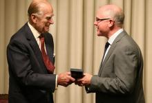 Mike Ferguson and the Duke of Edinburgh