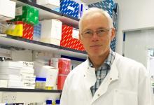 Professor Paul Crocker in lab