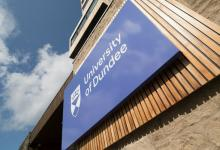 University of Dundee logo on the Tower Building