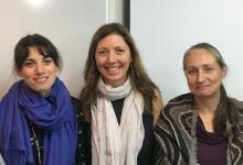Photo (from left): Ioanna Mastromina, Dr Kim Dale, Professor Kate Storey