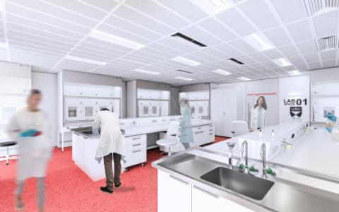Artist impression of Centre for Targeted Protein Degradation lab