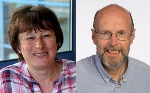 Professor Doreen Cantrell and Professor Grahame Hardie