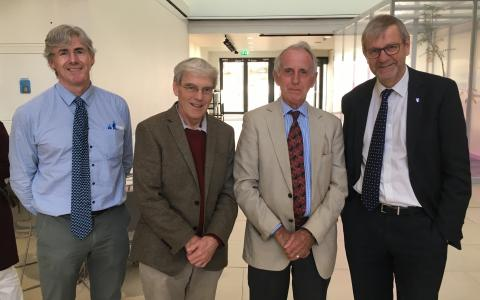 Prof Julian Blow, Dr Richard Henderson, Prof Peter Garland, Prof sir Pete Downes