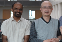 (From left) - Dr Harinath Doodhi and Professor Tomo Tanaka