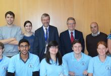 iGEM Team with Pete Downes and Malcolm Skingle